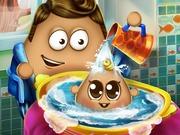 غسل الطفل الصغير بو