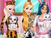 بنات تلبيس حيوانات