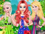 لعبة تلبيس الاميرات ملابس الربيع الجديدة