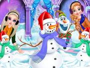الأميرات وأولاف في فصل الشتاء