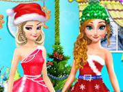 الاميرات فروزن في حفل الكريسماس