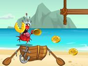 هروب السلطعون من القراصنة