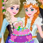 تزيين كعكة زفاف آنا