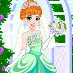 فستان زفاف الاميرة آنا