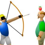 مطلق النار علي التفاحة