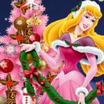 الأميرة ارورا ديزني وشجرة عيد الميلاد المجيد