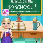 بيبي السا تزيين المدرسة