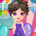 تلبيس الطفلة ملابس حفلات