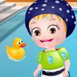 بيبي هازل وقت السباحة