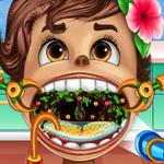 طفل موانا طبيب الحلق