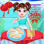 طفل تايلور طهي الطعام الصيني