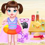 طفل تايلور رحلة الشاطئ الصيفية