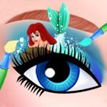 الفنانة مكياج العيون