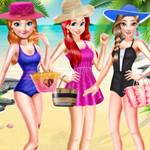 اميرات ديزني ملابس الشاطئ