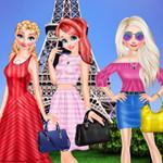 أميرات ديزني زيارة برج ايفل