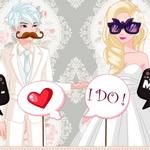 إلسا وجاك صورة الزفاف