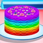 السا طبخ كعكة قوس قزح