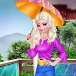 أزياء إلسا يوم ممطر