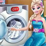 غسيل الملابس مع إلسا