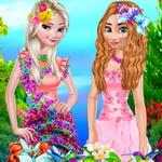 تلبيس ازياء الزهور