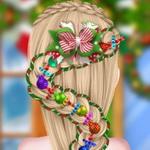 الاخت المجمدة تصميم تسريحة شعر الكريسماس