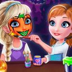 الاخوات المجمدة فن وجه عيد الرعب