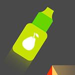 زجاجة العصير والقفز السريع