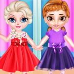 فستان الاميرة الأخوات الصغيرات