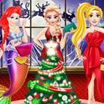 تلبيس 3 اميرات ديزني في حفل الكريسماس