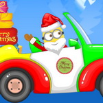سانتا مينيون سيارة عيد الميلاد