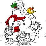 كتاب تلوين رجل الثلج